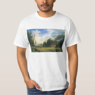 Mountain Landscape by Albert Bierstadt T-Shirt
