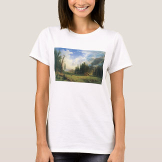 Mountain Landscape by Albert Bierstadt T-Shirt