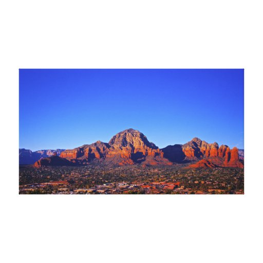 Mountain landscape City of Sedona Gallery Wrap Canvas