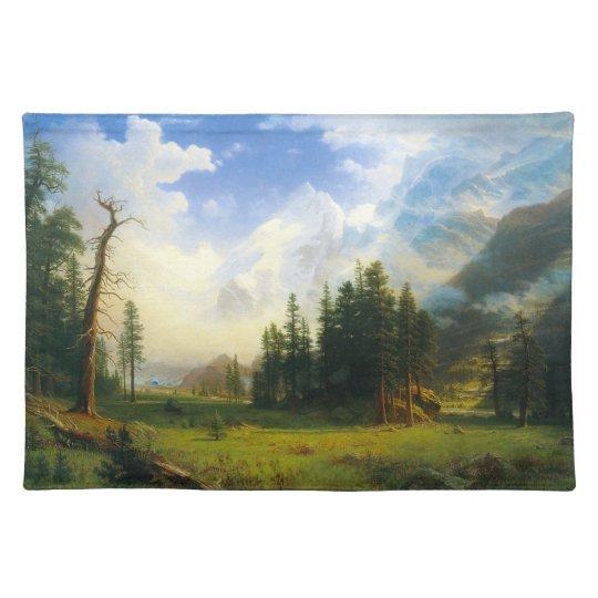Mountain Landscape Cloth Placemat