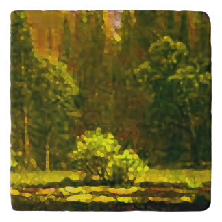 Mountain Landscape Impressionism Nature Fine Art Trivet