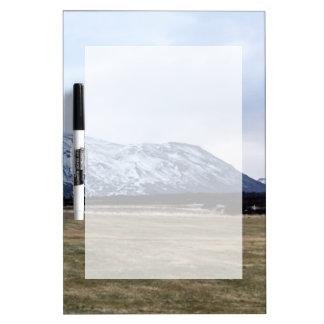Mountain landscape in Iceland Dry Erase Board