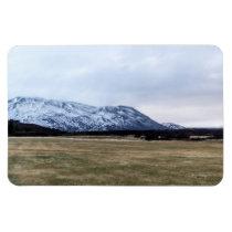 Mountain landscape in Iceland Rectangular Photo Magnet