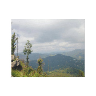 Mountain landscape in inclement weather | Sri Lank Canvas Print