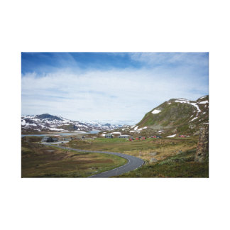 Mountain landscape in Norway canvas print