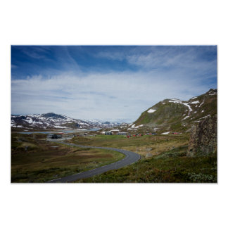 Mountain landscape in Norway poster