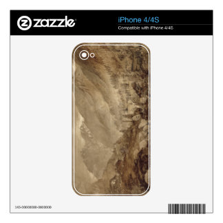 Mountain Landscape, Macugnaga, 1845 (pen & brown i Decal For iPhone 4