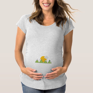 Mountain landscape maternity T-Shirt