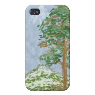 Mountain Landscape Painting Cases For iPhone 4