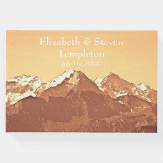 Mountain Landscape Wedding Guest Book
