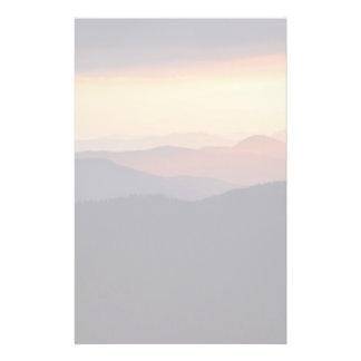 Mountain landscape with a fantastic sunset stationery