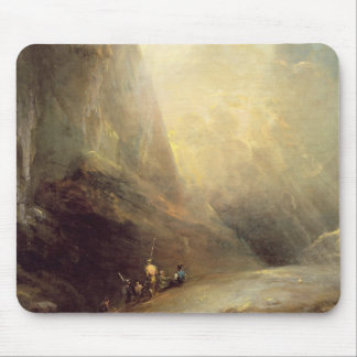 Mountain Landscape with Banditti, c.1780 (oil on c Mouse Pad