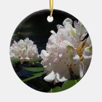 Mountain Laurel by a Creek Ceramic Ornament
