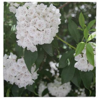 Mountain Laurel Floral Cloth Napkins set of 4