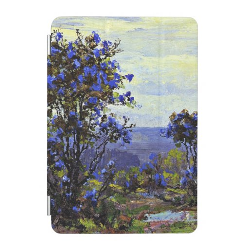 Mountain Laurel in Bloom, landscape painting iPad Mini Cover