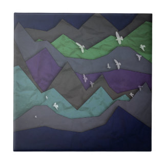 Mountain Layers II Ceramic Tile
