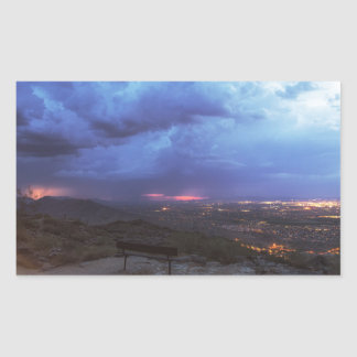 Mountain Light Rectangular Sticker
