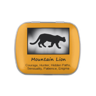Mountain Lion Animal Spirit Meaning Collectible Jelly Belly Tin
