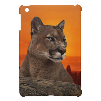 Mountain lion at sunset case for the iPad mini