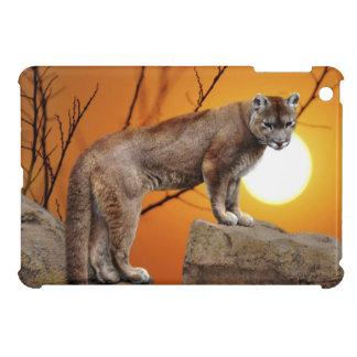 Mountain lion at sunset iPad mini cover