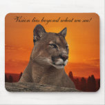 Mountain lion at sunset mouse pad