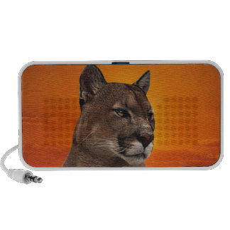 Mountain lion at sunset PC speakers