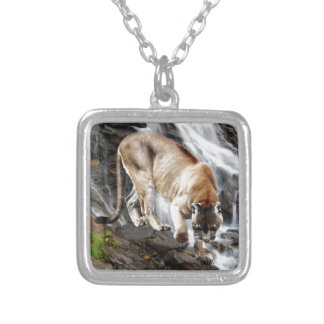 Mountain lion at the waterfall custom jewelry