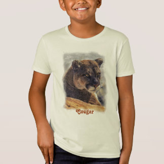 Mountain Lion, Big Cat Cougar Portrait on Shirt