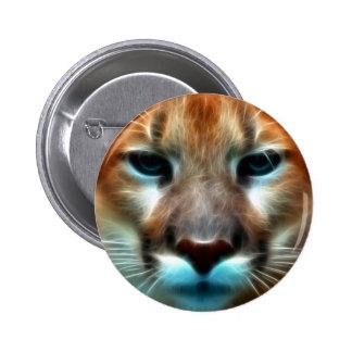 Mountain Lion 2 Inch Round Button
