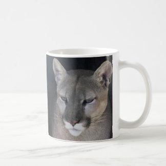 mountain lion classic white coffee mug