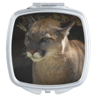 Mountain Lion Cougar Portrait for Big Cat-lovers 3 Vanity Mirror