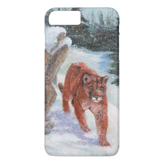 Mountain lion in snow iPhone 7 plus case