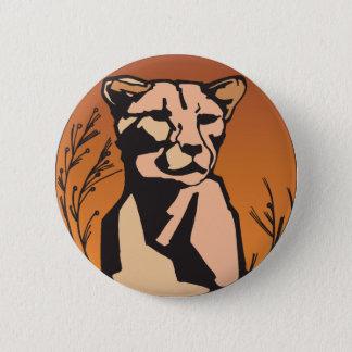 mountain lion lioness button