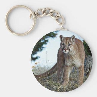Mountain Lion on the Mountain Basic Round Button Keychain