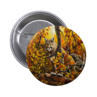 Mountain Lion painting on customizable products Pinback Button