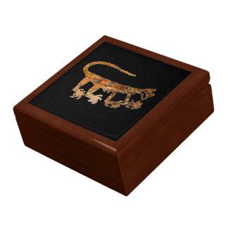 Mountain Lion Petroglyph Keepsake Box