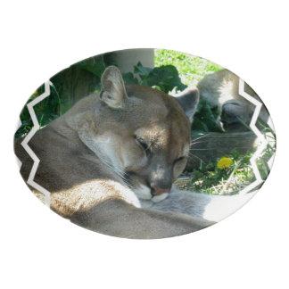Mountain Lion Porcelain Serving Platter