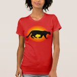 Mountain Lion Puma Cougar Sunfire Silhouette T-shirts