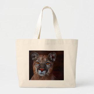 Mountain lion puma large tote bag