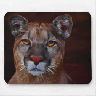Mountain lion puma mouse pad