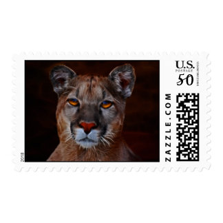 Mountain lion puma postage