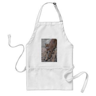 Mountain lion rock climbing adult apron