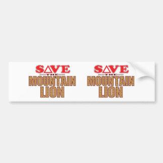 Mountain Lion Save Bumper Sticker