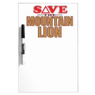 Mountain Lion Save Dry-Erase Board