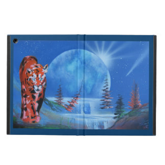 Mountain Lion waterfall moonscape Cover For iPad Air