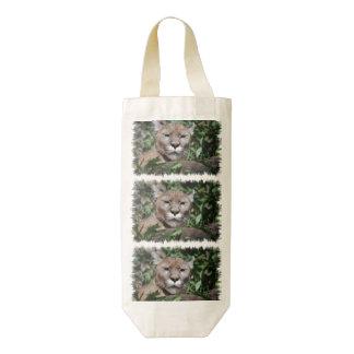 Mountain Lion Zazzle HEART Wine Bag