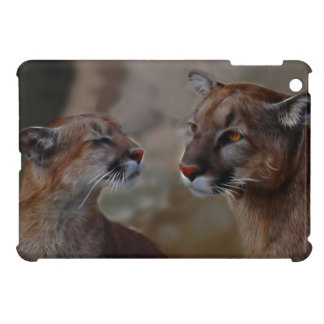Mountain lions in love iPad mini cases