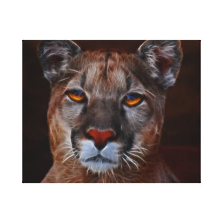 Mountain lions pride canvas print