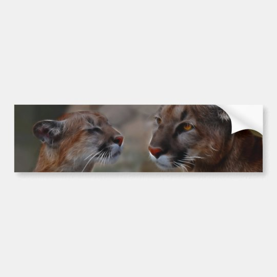 Mountain lions reverence bumper sticker