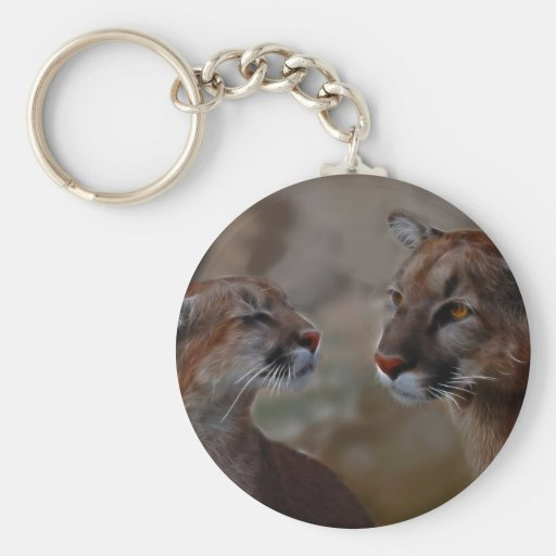 Mountain lions reverence key chain